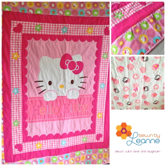 """Hello Kitty Cot Quilt"""