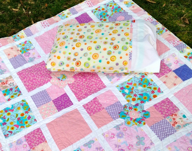 """Spring Fresh"" Single Bed Quilt and Pillow case"